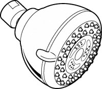 Shower Head Drawing bath > drains, shower, heads, and accessories - premier showerhead