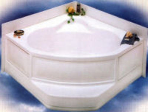 "Better Bath 54"" X 54"" Heavy Gauge Abs Corner Garden Tub Rh Drain for mobile homes"