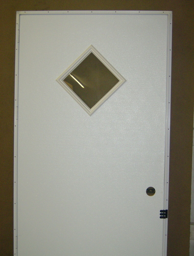 Mobile Home Outswing Door Diamond Window White Outside Inside For