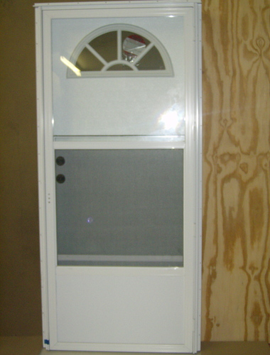 Combination Exterior Door With Fan Lite Window 4  Jamb for mobile homes & Doors and Windows u003e Front Combination Doors - Combination Exterior ...