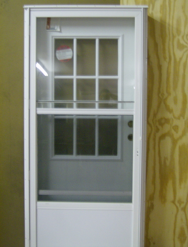 Combination Entry Door with 9-Lite Window 6.5\  Jamb for mobile homes & Doors and Windows \u003e Front Combination Doors - Combination Entry Door ...