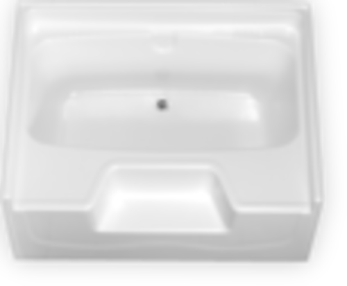 Fibergl Garden Tub W Outside Step Center Drain For Mobile Homes